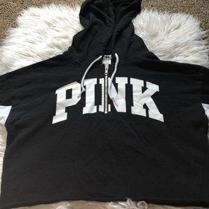 Victoria secret pink cropped sweatshirt